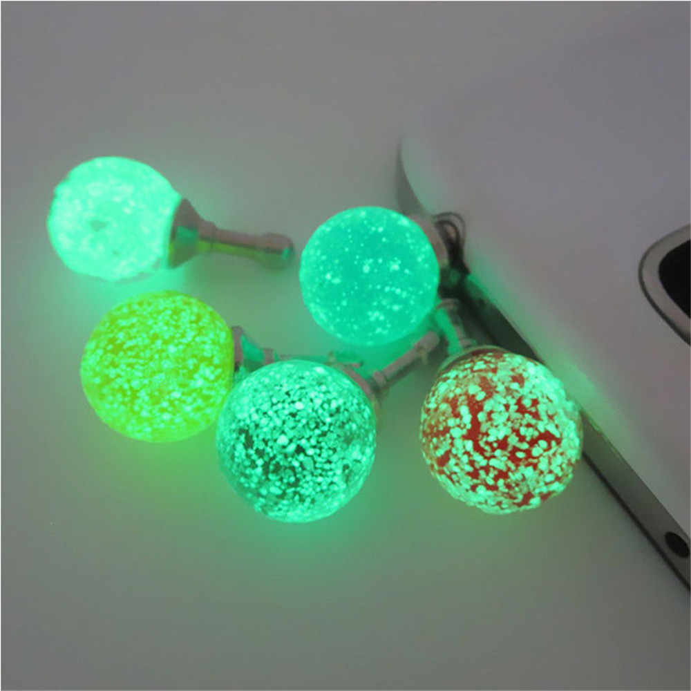CatXaa Luminous Night Light 3.5mm Earphone Port Dust Plug Headset Headphone Stopper Mobile Phone Audio Dustproof for Tablet PC