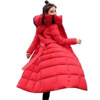 M 3XL 2018 New Parkas Female Outerwear Women Winter Coat Thickening Cotton Coat Winter Jacket Womens Outwear Long Parkas J935