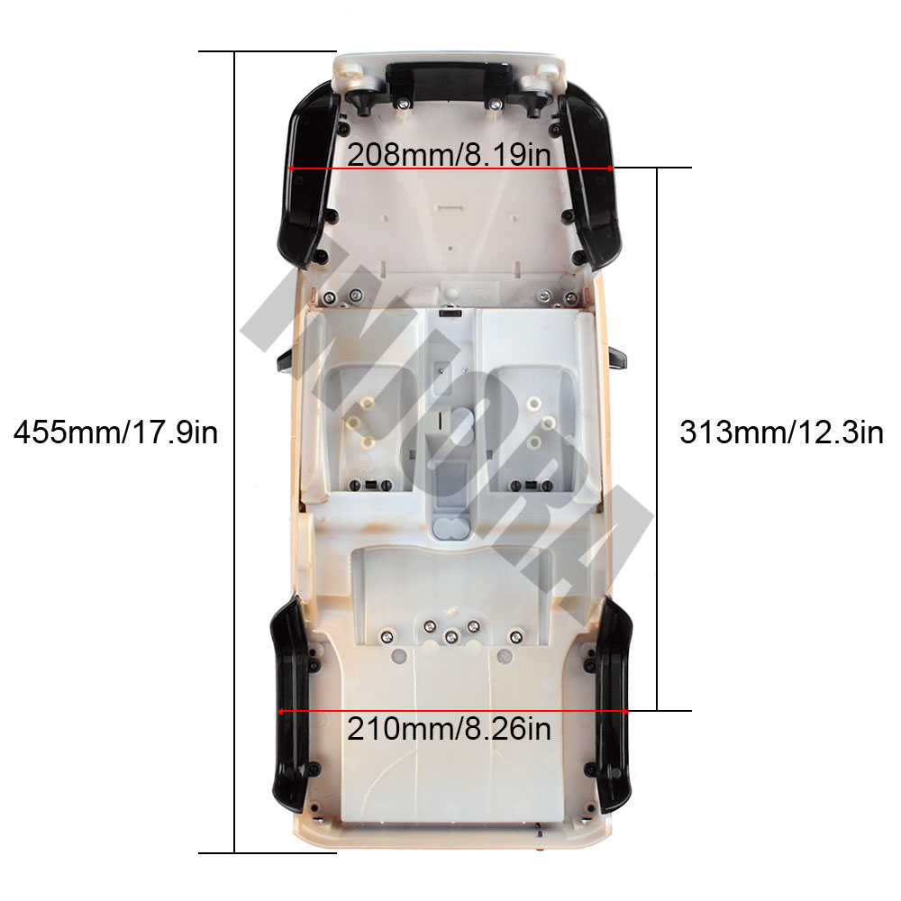Image 5 - INJORA Unassembled 12.3inch 313mm Wheelbase Body Car Shell for 1/10 RC Crawler Axial SCX10 & SCX10 II 90046 90047 Jeep Wrangler-in Parts & Accessories from Toys & Hobbies