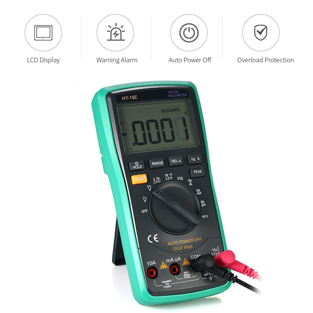 Digital Multimeter electric instrument Temperature Detector DC/AC Voltage Current Meter Capacitance Resistance Diode Tester