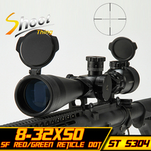 Aim optical sight Riflescopes Sniper Telescopic 8-32x50E-SF Red Green Reticle Dot Hunting Shooting 20mm Rail Mount Rifle Scope