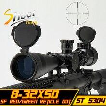 ST 5304 de Tir Sniper Télescopique Vue 8-32×50 SF Rouge Vert Reticle Dot Chasse Tir 20mm Rail Mount Fusil Portée