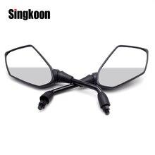 motorcycle accessories Universal 10mm mirror Black Side Rearview Mirrors FOR royal enfield ducati scrambler ybr 125