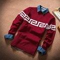 Свитера 2015 новые дизайнеры высокое качество брендов людей зимы о-образным шею кашемировый перемычки пуловеры свитер человек тонкий M-XXL