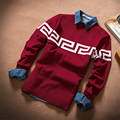 2015 New Designers High Quality Brands Winter Men's O-Neck Cashmere Sweaters Jumpers Pullovers Sweater Man Slim M-XXL