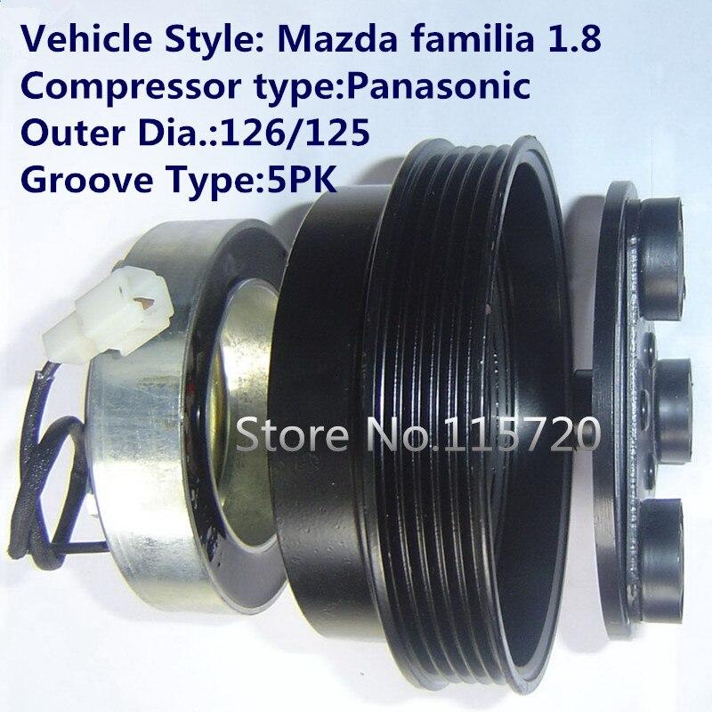 Air Conditioner Compressor Clutch For PANASONIC Mazda Familia 1.8 A/C Compressor Magnetic Clutch  12V 5PK