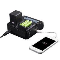 LVSUN Universal Phone AA Camera Car AC NP BG1 NP BG1 NPBG1 Charger For Sony NP