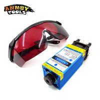 5500 mw Módulo de Laser Azul 2500 mw 15000 mw 33mm ajustável CNC Gravação A Laser PWM Módulo/TTL 3500 mw Laser cutter para CNC3018pro
