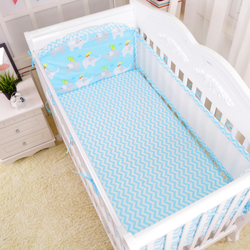 5Pcs/Set Bedding For Baby Summer Breathable Baby Cot Bumper Protector Newborns Bedding Set Infant Crib Bed Linens Multi Size