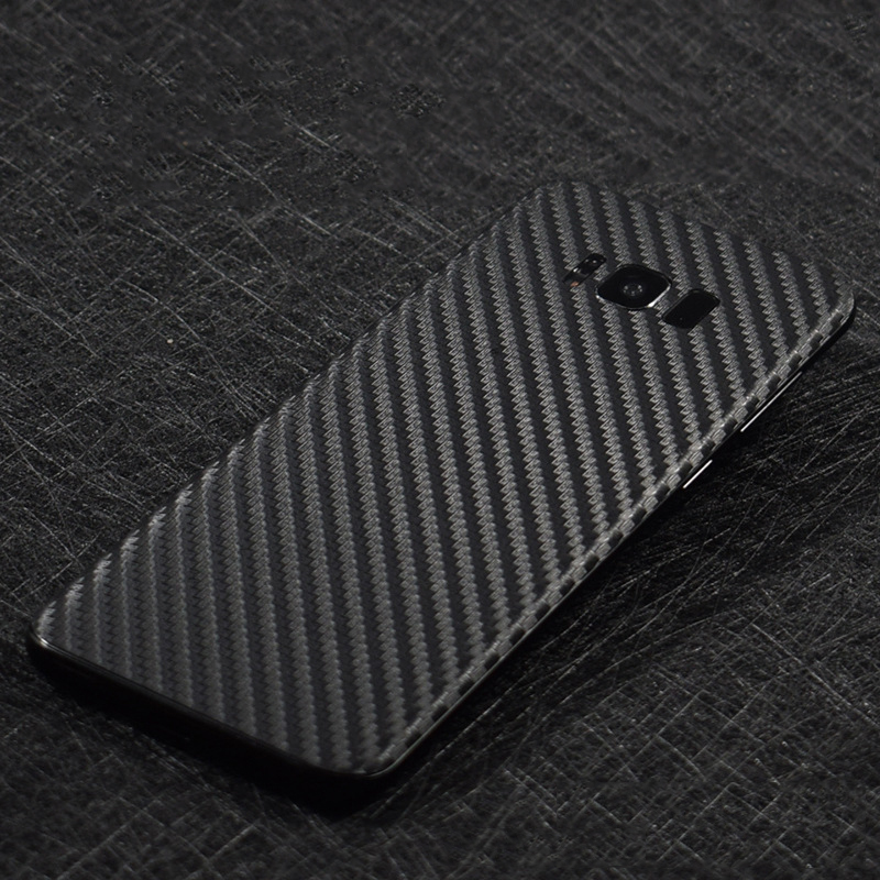 6 Color 3D Carbon Fiber Back Film For Samsung Galaxy S8+Plus Mobile Phone S8 Decorative Protector S8Plus Stickers AE Saver SHIP