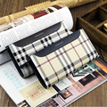 FREE SHIPPING Men's Cowhide leather Long Wallet Pockets Card Clutch Bifold Purse