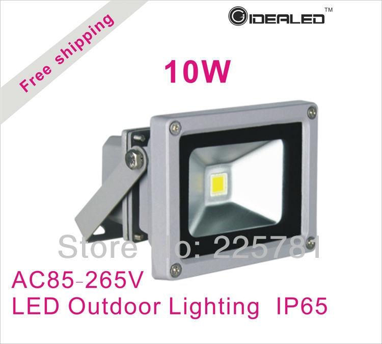 Free shipping 10W LED Floodlight IP65 AC85-260V Factory Outlet LED Landscape Lighting 2pcs/lot