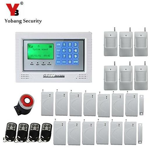 Yobang Security Wireless GSM Alarm System Home Alarm System with PIR Detector Gsm Alarm System Russian/English For Optional wireless smoke fire detector for wireless for touch keypad panel wifi gsm home security burglar voice alarm system