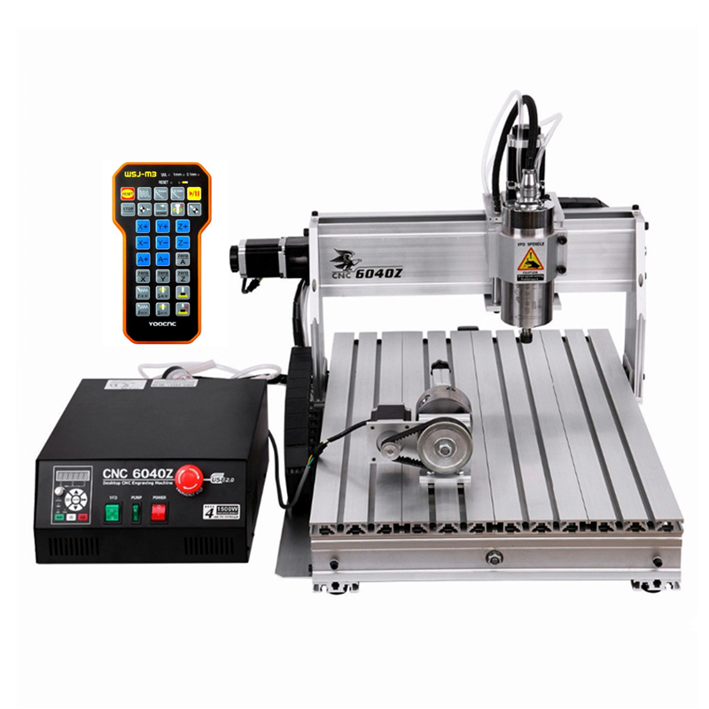 1500W 2200W Water Cooling Spindle CNC Router 6040Z With USB Port Water Pump