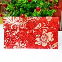 Flower Chinese Flower Pattern Button Style Chinese Wedding Cloth Large For Money Red Packets Gift Envelopes