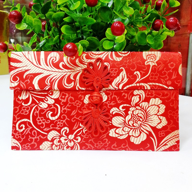 Flower Chinese Pattern On Style Wedding Cloth Large For Money Red Packets Gift Envelopes In Bags Wring Supplies From Home