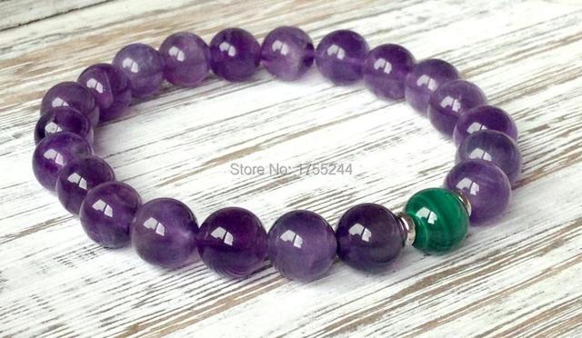 Bracelet Amethyste Malachite