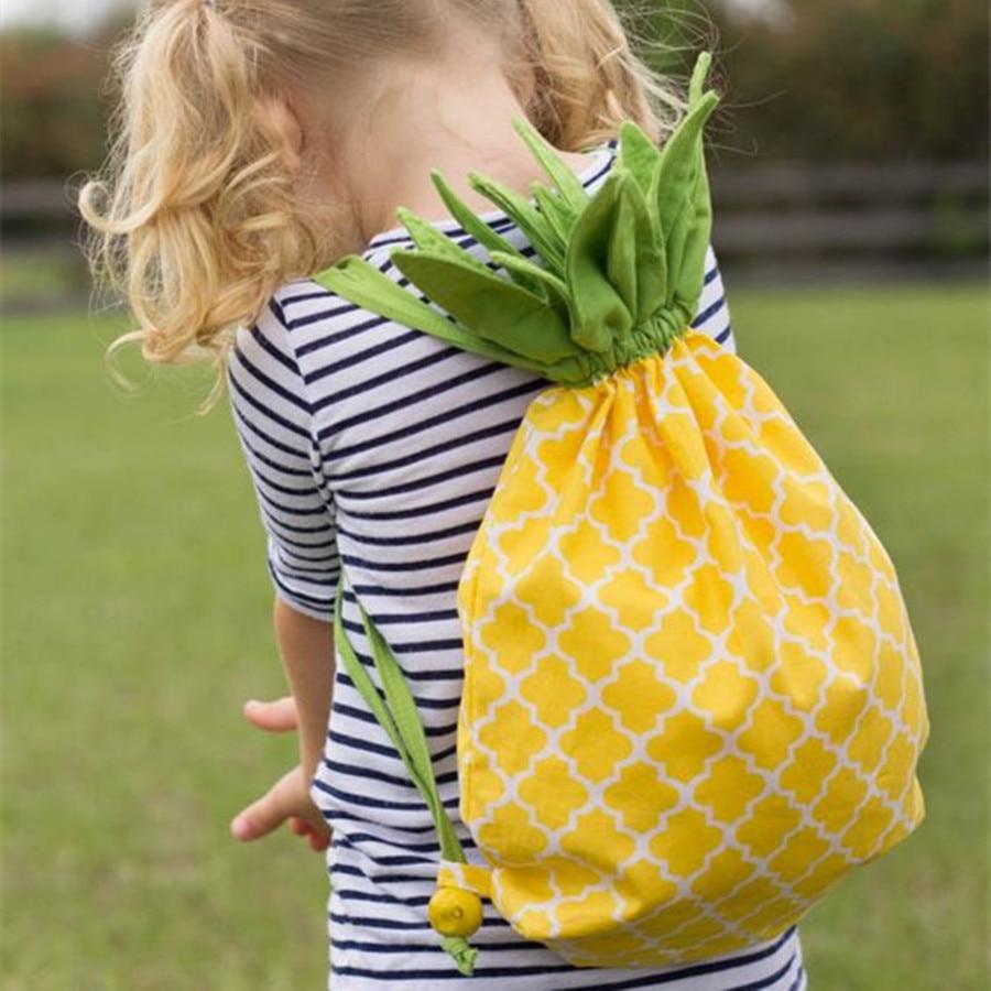Gsenmo Gift Pineapple Cute School Backpack Kids Girl Bags Kids Shoulder Cartoon Backpack Back To School Korean In Stock