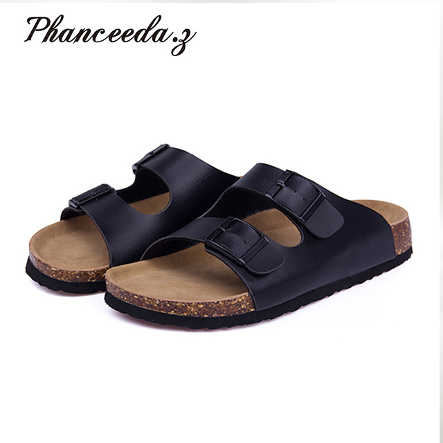 d1d39fce3b91 New 2018 Summer Style Shoes Woman Sandals Cork Sandal Good Quality Zapatos  Mujer Casual Slippers Flip Flop Plus size 4-11