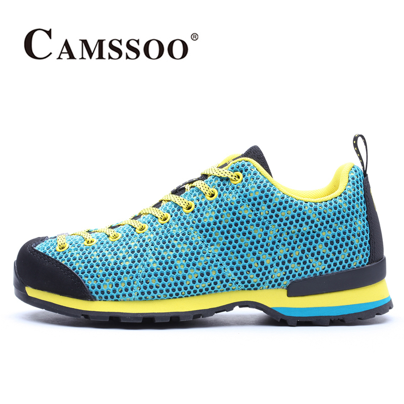 2017 Camssoo Women Outdoor Sports Shoes Light Weight Walking Hiking Shoes Breathable Mesh Footwear For Female Free Shipping 6036