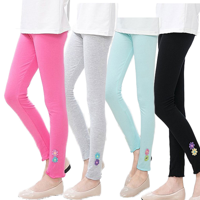 V-TREE Girls Leggings Spring Autumn Children Pants Candy Color Pants For Girl Pencil Trousers Teenager 2-12 Years Clothing