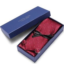 Joy alice 8cm New high-quality mens ties gravatas dos homens tie set for men striped neckties gift box packing