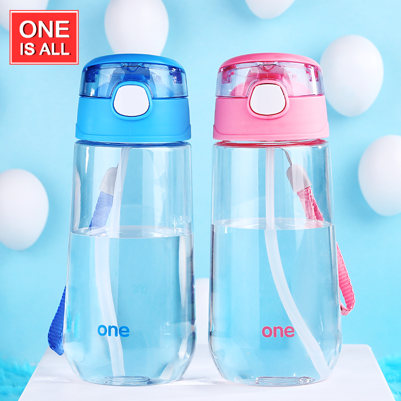 kids Water Bottle with Straw 500ml children water Tumbler Drinking for Water Bottles Portable Cartoon child Sport pot Brand tumb