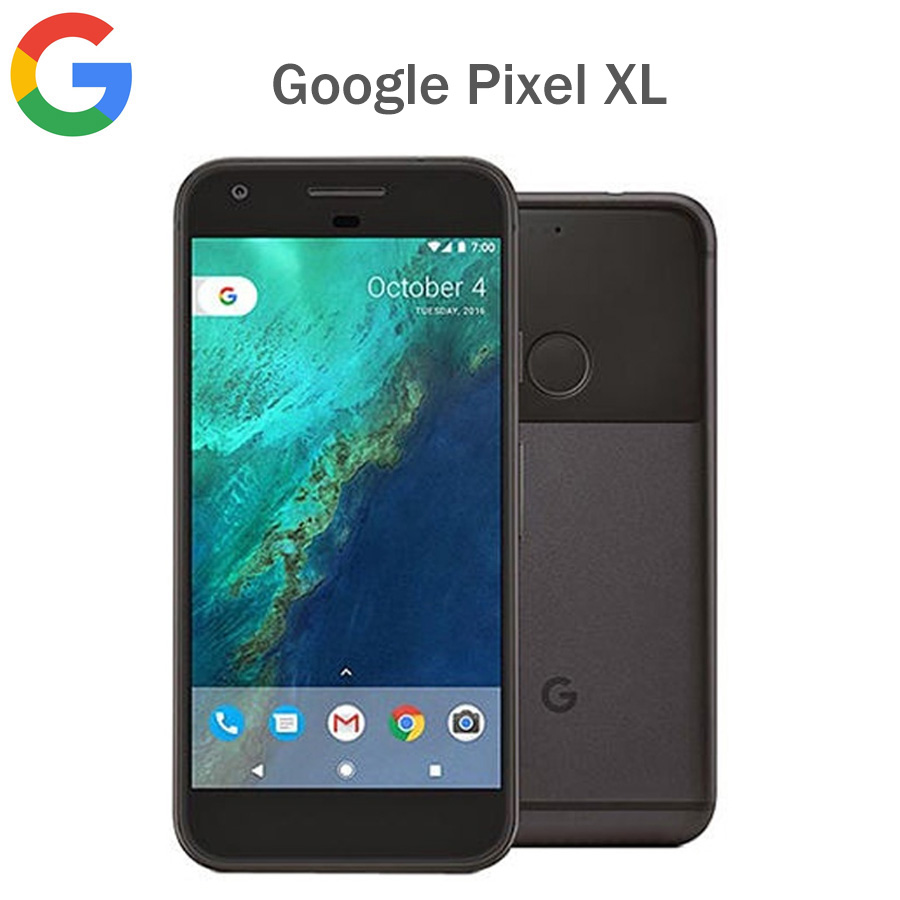 Original Google Pixel XL EU version LTE Mobile Phone 5.5 4GB RAM 128GB ROM Snapdragon821 Quad Core Fingerprit NFC Android phone image