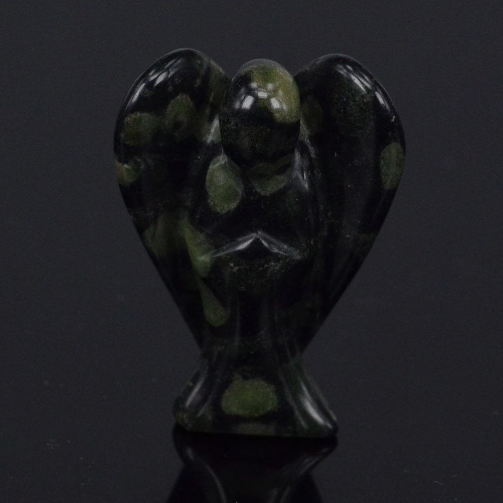 1.5 인치 천연 보석 캄 바바 재스퍼 조각 천사 자연 공예 돌 입상 차크라 치유 영기 돌
