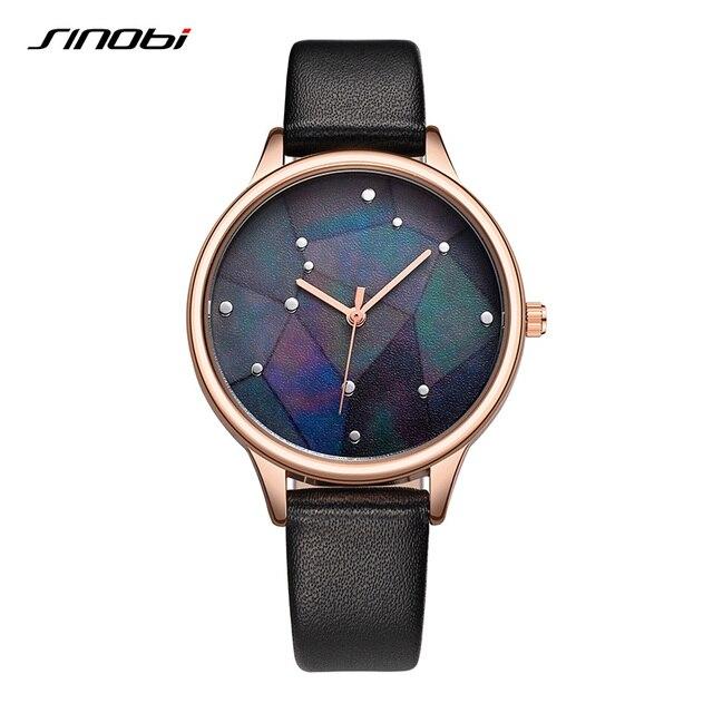 SINOBI Новые творческие звездное небо Для женщин Часы 2018 Мода Galaxy женские часы Водонепроницаемый кварцевые часы Для женщин Montre Femme