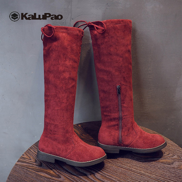 Children 39 s Girls Boots 2019 Autumn Winter Girls Knee High Boots Girl Princess Children High Kids Shoes Bota Kids Black Brown Red in Boots from Mother amp Kids