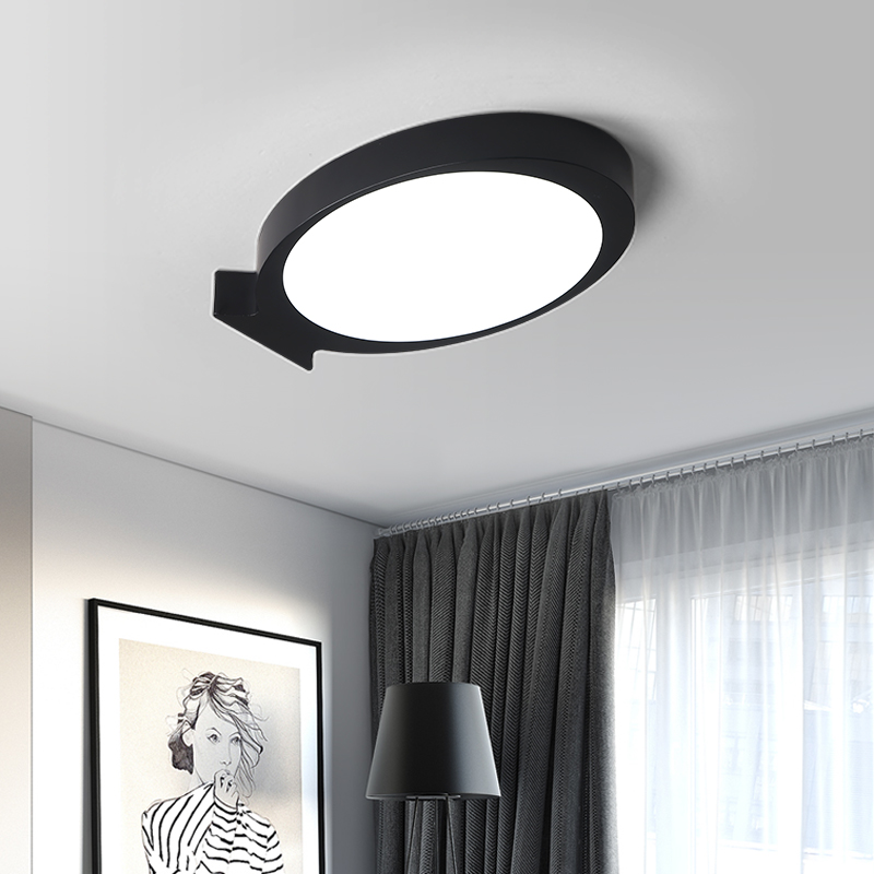 Black or White Modern LED ceiling lights simple deco fixtures study dining room balcony bedroom living room ceiling lamp ceiling lighting minimalist modern balcony study bedroom lighting led intelligent atmospheric living room dining room