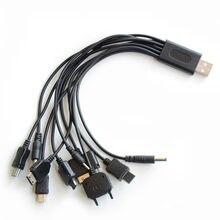 10 em 1 carregador multifuncional usb cabos para ipod motorola nokia samsung lg sony ericsson cabo de dados de consumo usb cabos