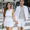 2014 Vendas Quentes Europa Americano Verão Vestuário Das Mulheres Marca de Moda de Alta Cintura Fina Sexy Sem Encosto Vestidos de Sol Presentes Frete Grátis