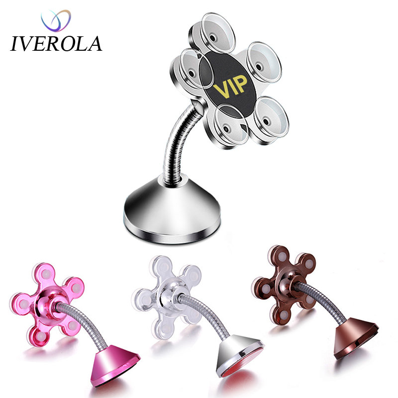 Univerola Suction Cup Mount Car Phone Holder For Phone Sucker Magic Phone Holder For Samsung GPS Navigation Smartphone Accessory