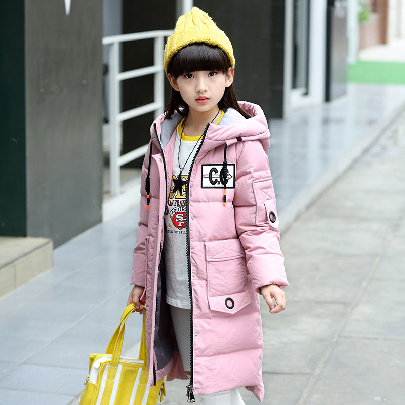 Cross-border children down jacket in the long winter wear 2017 children in the new thick coat thick girls children s 2017 winter new children s down jacket big girls in the korean version of the girls down jacket long thick coat