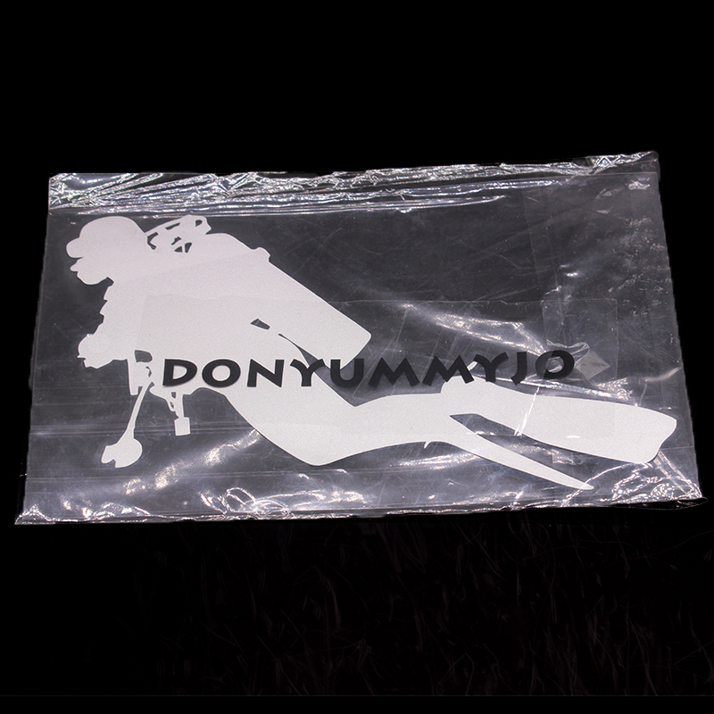 DONYUMMYJO 18.3cm*10.5cm Car Styling Fashion Diving Vinyl Car Stickers Personality Accessories Black Silver RW-034