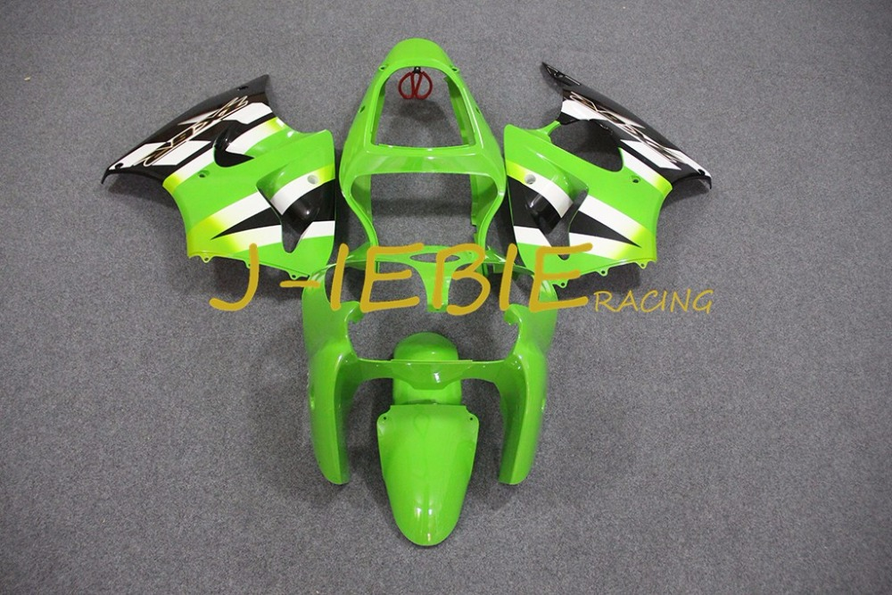 Green Injection Fairing Body Work Frame Kit for Kawasaki NINJA ZX6R ZX6 ZX 6 R 2000 2001 2002