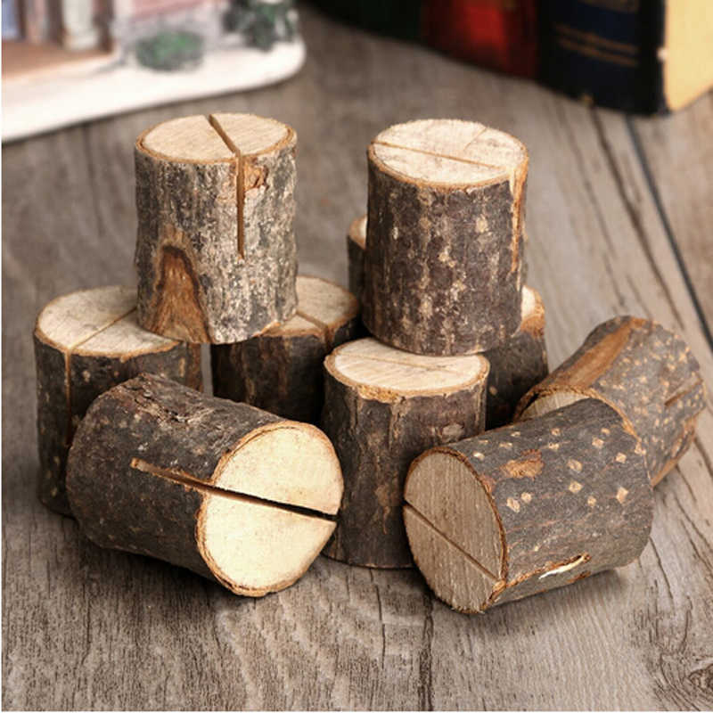 Segnaposto Matrimonio Aliexpress.10pcs Set Wooden Seats Folder Table Numbers Clip Segnaposto