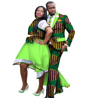 New African Clothing for Couples Dashiki African Couple Skirt Set Clothes for Women Mens African Blazer Clothing WY1283
