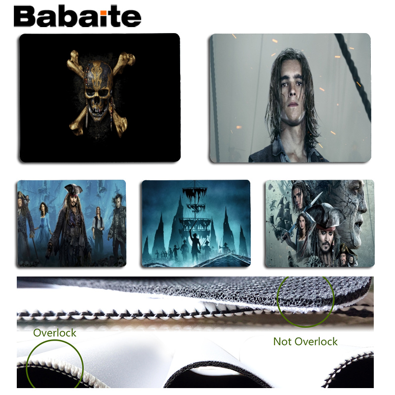 Babaite Pirates Customized laptop Gaming mouse pad Size for 25x29cm Gaming Mousepads