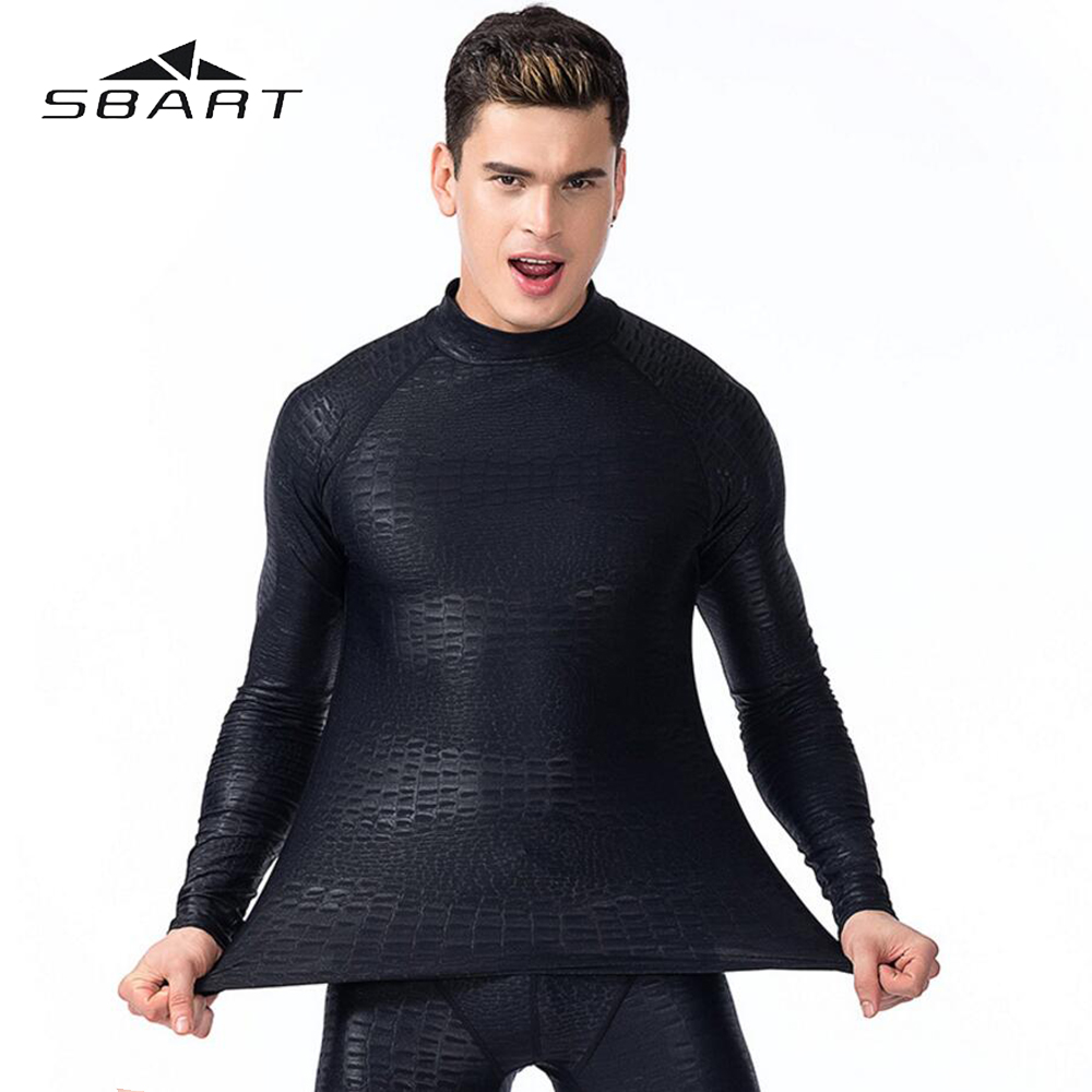 SBART Swimming Suit For Man Long Sleeve Swimsuit Rash Guard Quick-Dry Diving Suit Snorkeling Swimming Surfing Rashguard Anti UV sbart upf50 rashguard 916