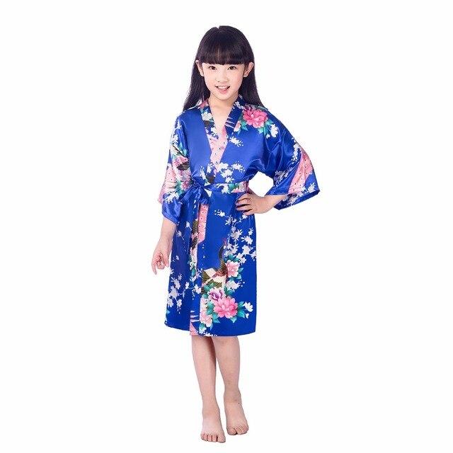 Centuryestar Kids Robe Satin Silk Children 2018 Summer Kimono Bath ...