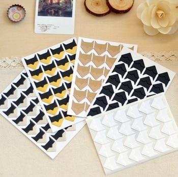 120 pcs/lot (5 sheets) DIY Vintage Corner kraft Paper Stickers for Photo Albums Frame Decoration Scrapbooking