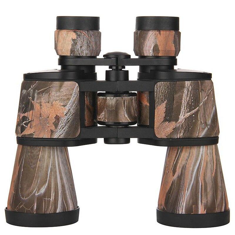 Handheld 10x50 Camouflage Binoculars HD Waterproof Lll Night Vision Wide Angle BAK4 Binocular Outdoor Camping Hunting Telescope in Monocular Binoculars from Sports Entertainment