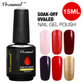 Vrenmol 1pcs 15ml Soak Off Gelpolish Nail Art Fashion Glitter Vernis Semi Permanent Colors UV Gel Nail Varnish