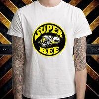 スーパー蜂ロゴヴィンテージダッジクラシックマッスルカーメンズホワイトtシャツサイズsに3xl