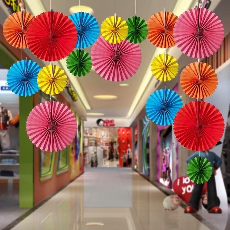 Online Shop Children S Room Colorful Fan Decoration Store Window