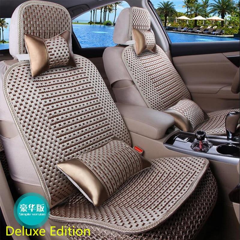 La almohadilla de cojín de coche de tamaño universal se adapta a la mayoría de autos solo cojín para asiento frío de verano cuatro estaciones en general cubierta de asiento de coche