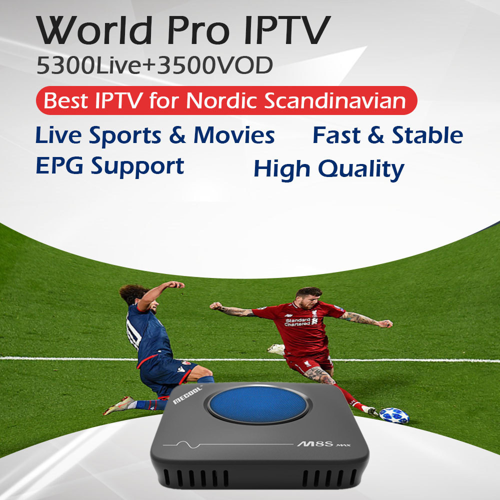 Pro IPTV meilleur scandinave nordique pays-bas IPTV + M8S MAX Amlogic S912 Andriod TV Box 3G/32G Support OTA double Wifi BT4.1 4 K STB